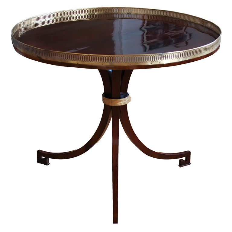 Early 19th century round empire center table with brass for Table th center css