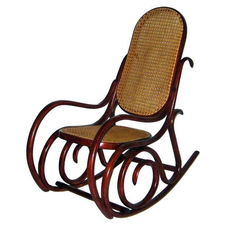 thonet children 39 s rocking chair at 1stdibs