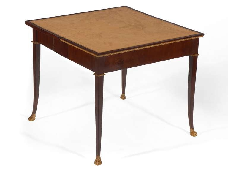 Elegant Neoclassical Folding Console And Game Card Table At 1stdibs