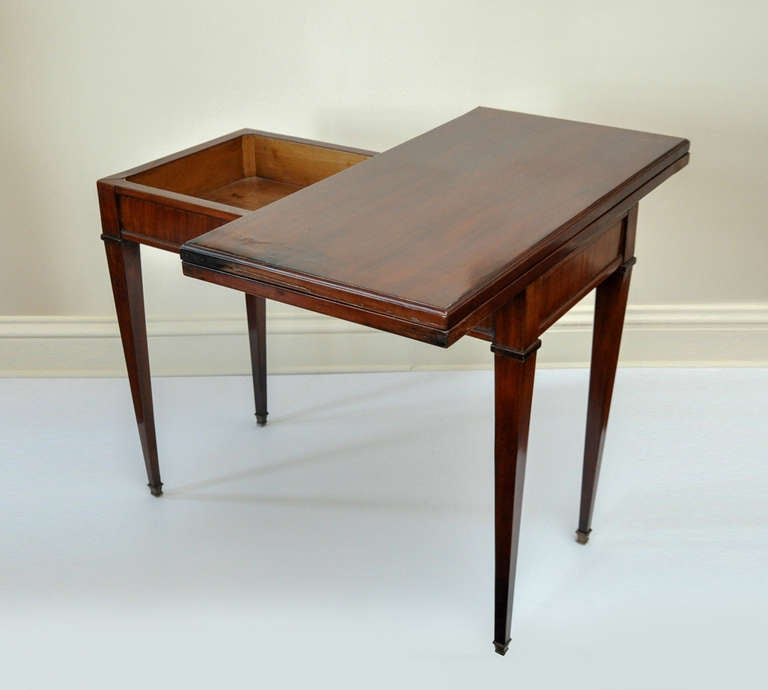 Biedermeier neoclassical folding console and game table at for Table console retractable