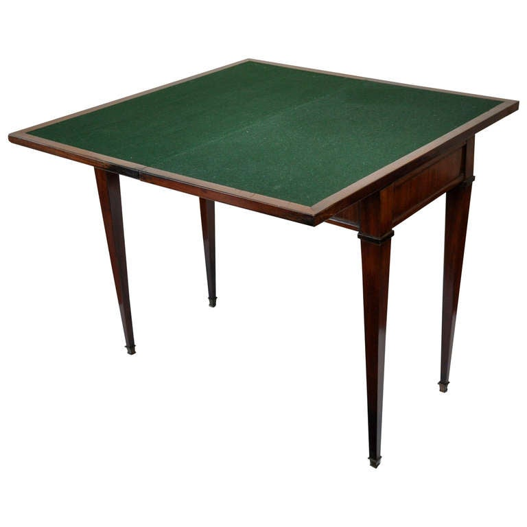 biedermeier neoclassical folding console and game table at 1stdibs. Black Bedroom Furniture Sets. Home Design Ideas