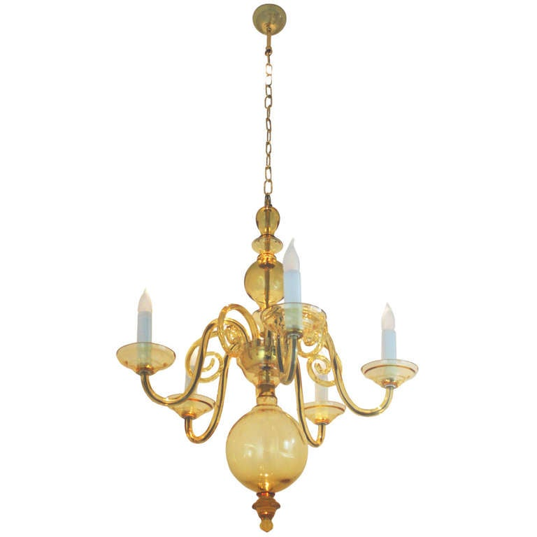 Modern Murano Glass Chandelier By Tino Rossi At 1stdibs