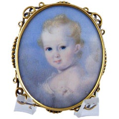 A Portrait Miniature of a Child