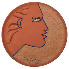 Jean Cocteau Terracotta Pottery Dish