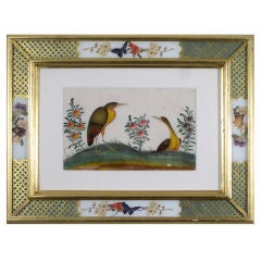 A Set of Four Chinese Watercolours of Birds