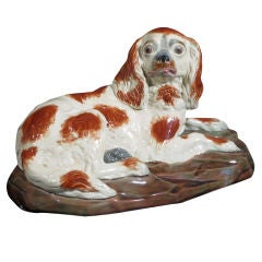 A Copeland Pottery Figure of King Charles Spaniel