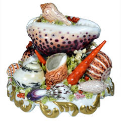 Chamberlain Worcester Porcelain Sea Shell Centerpiece, Regency Period.