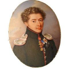 A Large Fine Portrait Miniature of an Aristocrat by Heni Benner