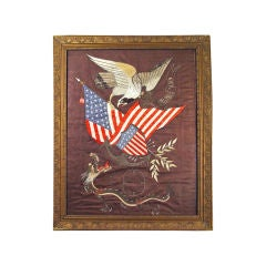 A Silkwork with American Eagle made for the American Market.