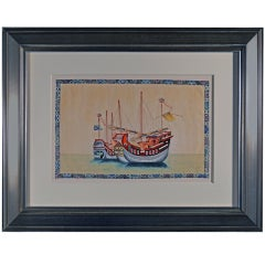 A Set of Twelve Large China Trade Watercolours of Junks and Sampans