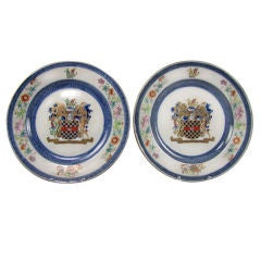 Pair of Chinese Armorial Plates  with the Arms of Clifford