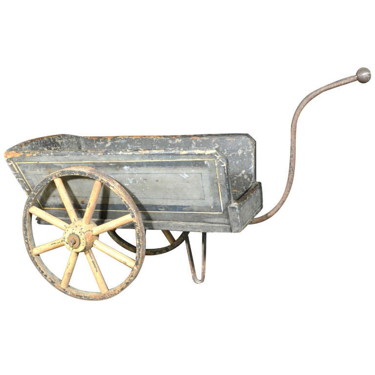 Small Antique Garden Flower Cart At 1stdibs