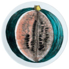 Vintage Piero Fornasetti Plate of a Watermelon from Sezioni Di Frutta Series
