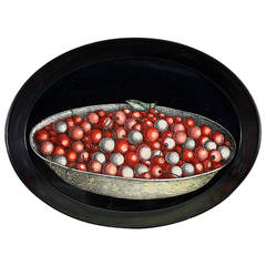 Vintage Piero Fornasetti Fruit Tray with a Bowl of Cherries