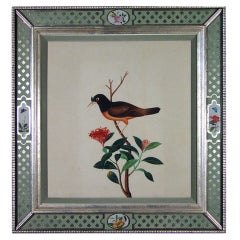 A Pair of Large China Trade Watercolours of Birds