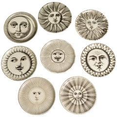 A Set of Eight Piero Fornasetti Sun & Moon Coasters