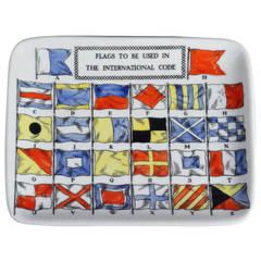 Piero Fornasetti Sailing Code Flag Dish