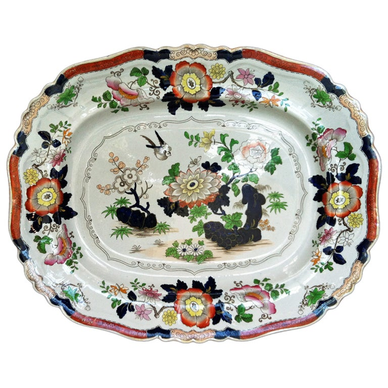 A Large Ashworth Ironstone Dish At 1stdibs