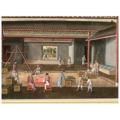 Twelve Chinese Painting of Tea Cultivation and Processing