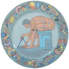 "Eduardo Paolozzi's ""After Newton"".Rosenthal Porcelain Dish"
