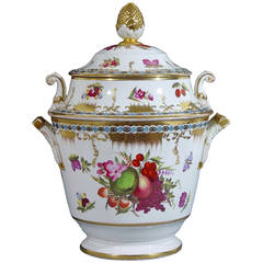 Coalport Porcelain Botanical Fruit Cooler and Cover