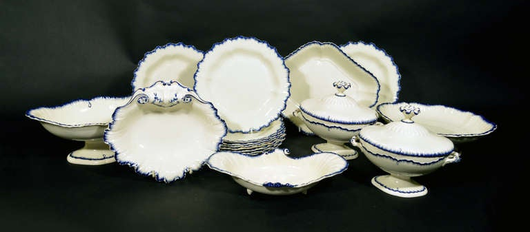 It is so rare today to find a large, 18th century creamware service still together.