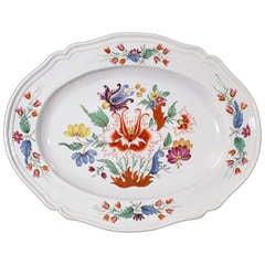 Italian Doccia Porcelain Dish decorated in the Tulipano Pattern.