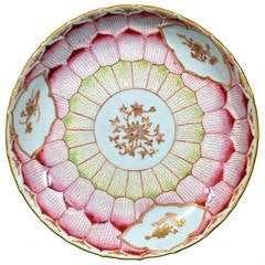 Chinese Export Porcelain Lotus Leaf Saucer Dish