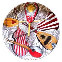 Piero Fornasetti Strumenti Musicali Porcelain Music Plate