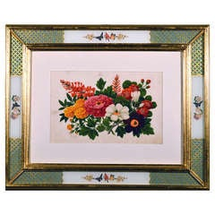 A Set of Eight China Trade Botanical Watercolour Framed Paintings