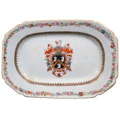 A Chinese Export Porcelain Armorial Dish
