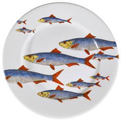 A Vintage Piero Fornasetti Fish Plate, Passata de pesce (Passage of Fish).