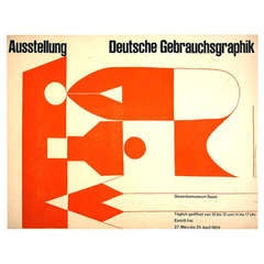 Mid-Century Modern Swiss Exhibit Poster by Armin Hofmann, 1954
