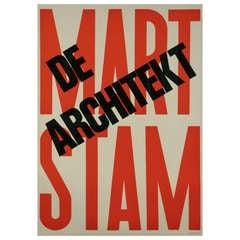 Modern Dutch Exhibition Poster by Paul Schuitema, 1972