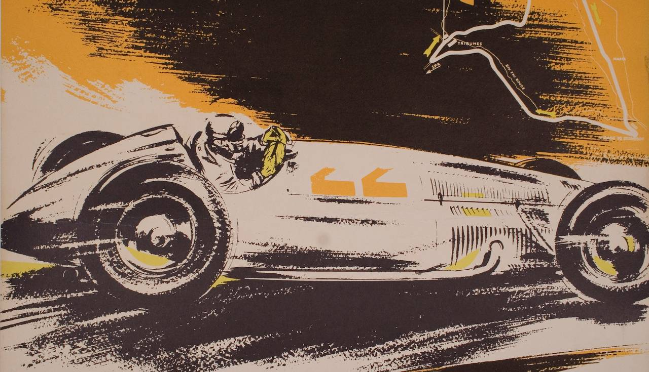 Mercedes benz belgian grand prix victory poster 1939 image 2 for Mercedes benz wall posters