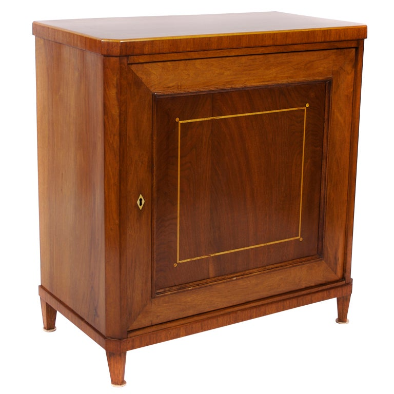 Danish Inlaid Mahogany Wood Cabinet C 1900 For Sale At
