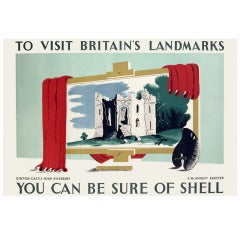 British Poster for Shell Oil by Edward McKnight Kauffer, 1936