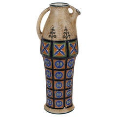 Czechoslovakian Glazed Earthenware Pitcher by Amphora, 1918-1939