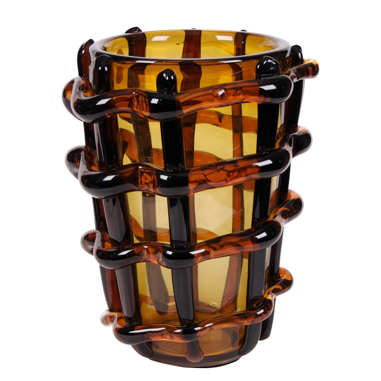 Large Venetian Murano Glass Vase By Costantini C 1980 At