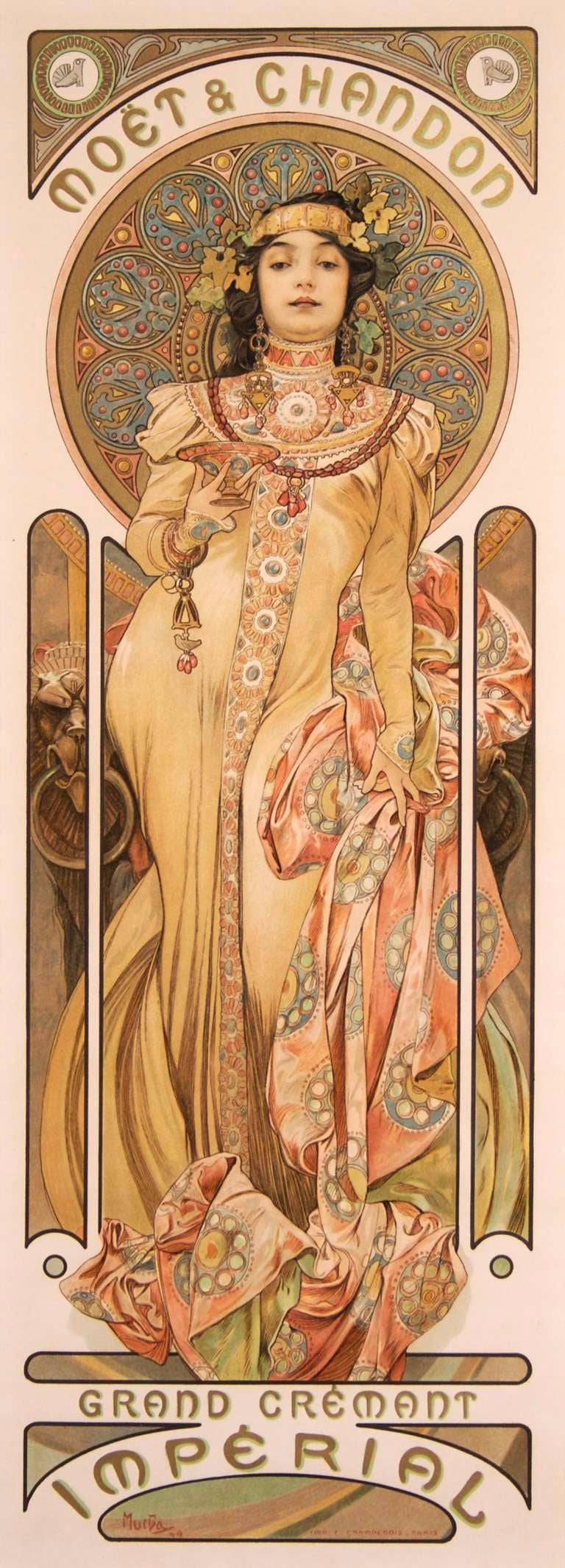 Pair of Original French Art Nouveau Period Posters by Alphonse Mucha 3