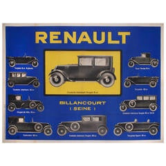 French Art Deco Period Renault Auto Poster from 1930