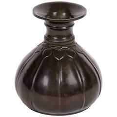 "Danish Art Deco Period ""Disko"" Metal Vase by Just Andersen, circa 1930"