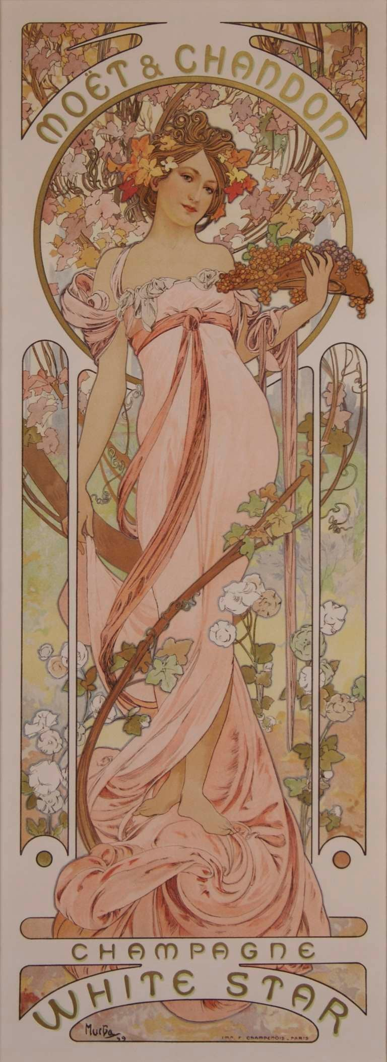 Pair of Original French Art Nouveau Period Posters by Alphonse Mucha 2