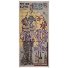 Italian Art Nouveau Period Liquor Poster by Giovanni Mataloni, 1900