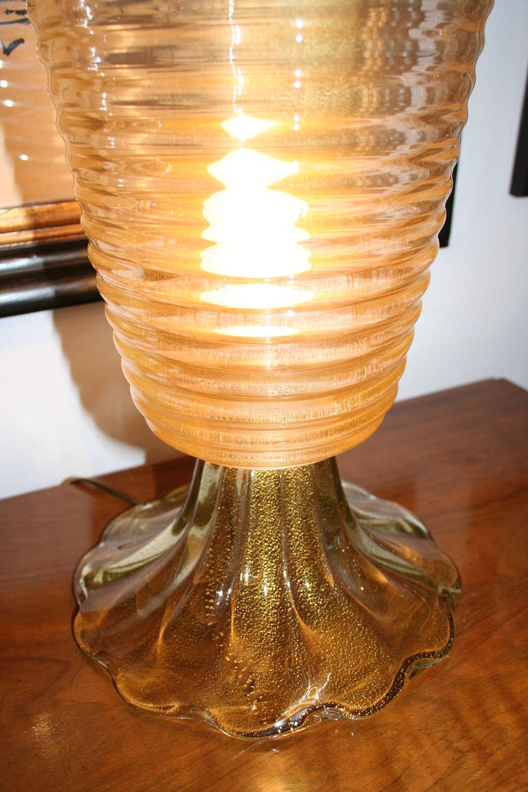 Pair of Murano Glass Table Lamps, circa 1970 2