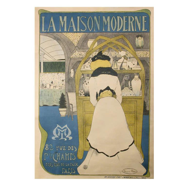 la maison moderne a french belle epoque period poster. Black Bedroom Furniture Sets. Home Design Ideas