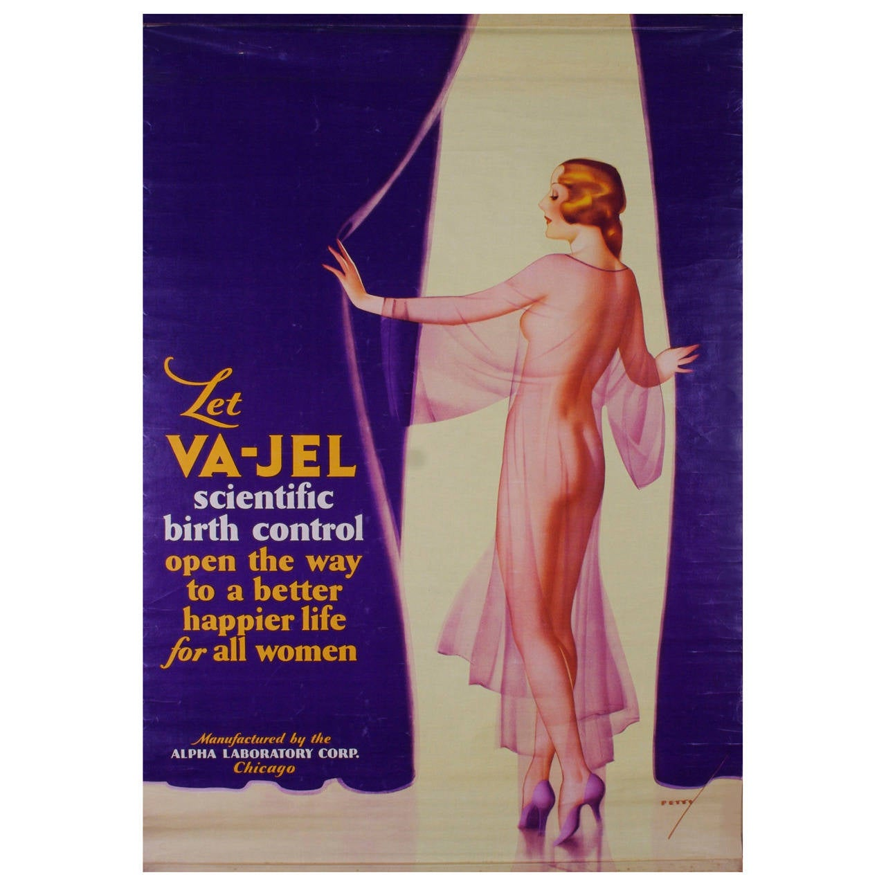 George Petty Pin Up Girls: American Birth Control Advertisement Poster By George