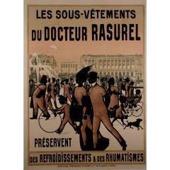 French Turn of the Century Poster for Dr. Rasurel Undergarments, 1900