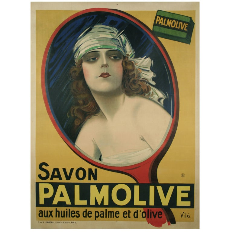 French art deco period palmolive soap poster by emilio for Art deco era dates