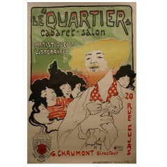 """Le Quartier,"" a French Turn of the Century Poster by Georges Fay, 1897"